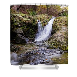 The Glen River Falls Shower Curtain