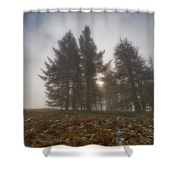 Shower Curtain featuring the photograph The Gloomy Sunrise by Jeremy Lavender Photography