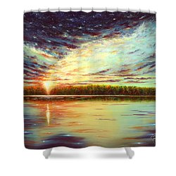 The Glory Of God Shower Curtain