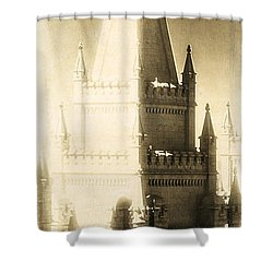 Shower Curtain featuring the photograph The Glory Of The Lord Shone Round About by Greg Collins