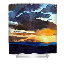 The Glory Of The Sunset Shower Curtain