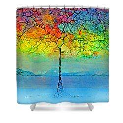 The Glow Tree Shower Curtain