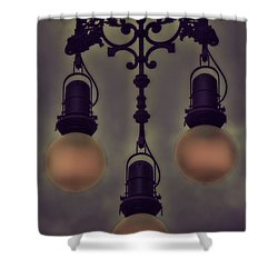 The Glowing Pearl Pendants Of Barcelona Shower Curtain by Henry Kowalski