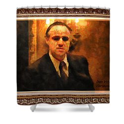 The Godfather Shower Curtain by Mario Carini