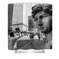 Shower Curtain featuring the photograph The Gods by Dave Beckerman