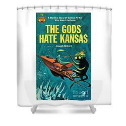 Shower Curtain featuring the painting The Gods Hate Kansas by Jack Thurston