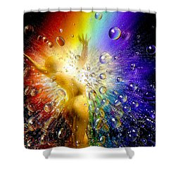 The Gold At The End Of The Rainbow Shower Curtain by Robby Donaghey