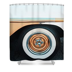 The Golden Age Of Auto Design Shower Curtain