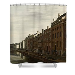 The Golden Bend In The Herengracht, Amsterdam, Seen From The West, 1672 Shower Curtain
