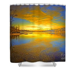 The Golden Clouds Of Winter Shower Curtain