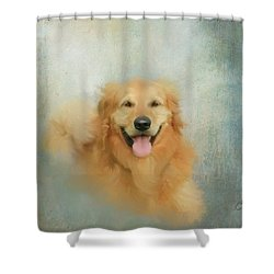 The Golden Shower Curtain