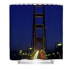 The Golden Gate Bridge Twilight Shower Curtain