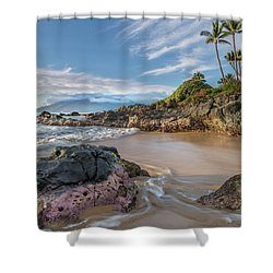 The Golden Hour In Paradise Shower Curtain