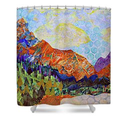 The Golden Hour Shower Curtain by Polly Castor