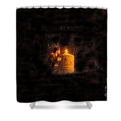 The Golden Idol Shower Curtain by David Lee Thompson