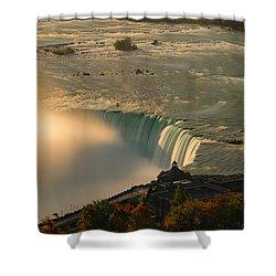 The Golden Mist Of Niagara Shower Curtain