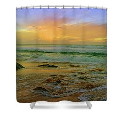 Shower Curtain featuring the photograph The Golden Moments On Molokai by Tara Turner