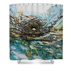 The Golden Nest Shower Curtain