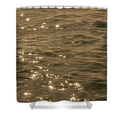 Shower Curtain featuring the photograph The Golden Ocean by RKAB Works