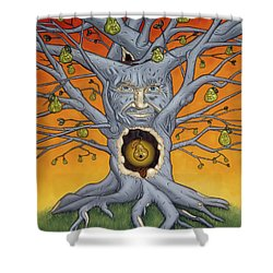 The Golden Pear Shower Curtain