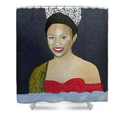 The Golden Queen  Shower Curtain by Angelo Thomas