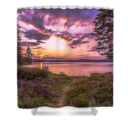 Shower Curtain featuring the photograph The Golden Time by Rose-Maries Pictures