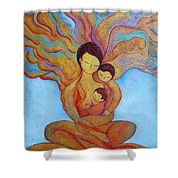 The Golden Tree Of Life Shower Curtain by Gioia Albano