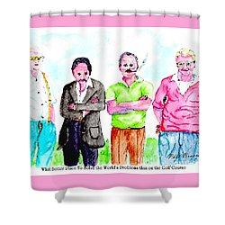 The Golf Course, A Place For Solving Problems Shower Curtain