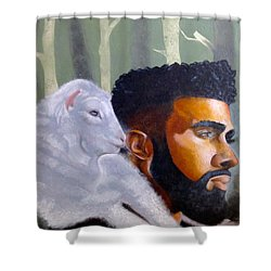 The Good Shepherd  Shower Curtain by Christopher Marion Thomas