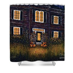 The Good Witch Grey House Shower Curtain