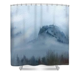The Gorge In The Fog Shower Curtain