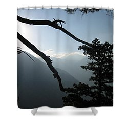 The Gorge Shower Curtain by Oliver Johnston