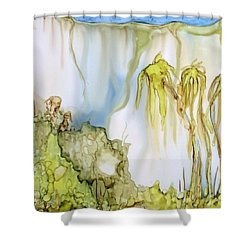 Shower Curtain featuring the painting The Gorge by Pat Purdy