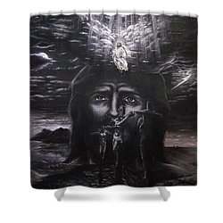 The Gospel Shower Curtain by Bill Stephens