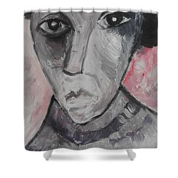 The Gothic Poet Shower Curtain