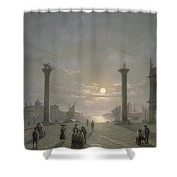 The Grand Canal From Piazza San Marco Shower Curtain by Henry Pether