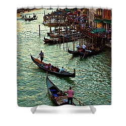The Grand Canal Venice Shower Curtain by Harry Spitz