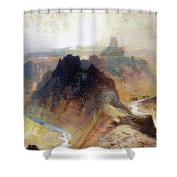 The Grand Canyo Shower Curtain by Thomas Moran