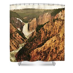 Shower Curtain featuring the photograph The Grand Canyon Of The Yellowstone by Greg Norrell