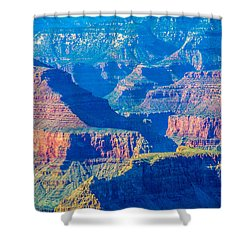 The Grand Canyon Peaks Shower Curtain by Alex Grichenko