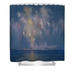 The Grand Finale Shower Curtain by Lendall Pitts