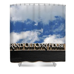 The Grand Ole Opry Nashville Tn Shower Curtain by Susanne Van Hulst
