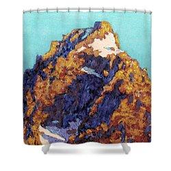 The Grand Teton Shower Curtain by Abbie Groves
