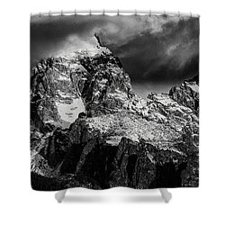 Shower Curtain featuring the photograph The Grand Teton by Gary Lengyel