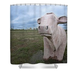 The Granite Cow Shower Curtain