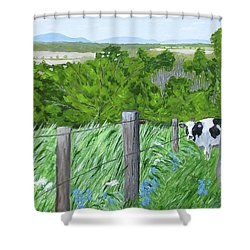 'the Grass Sings In The Meadow' Shower Curtain