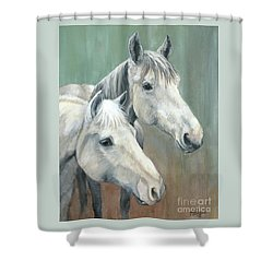 The Grays - Horses Shower Curtain