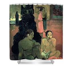 The Great Buddha Shower Curtain by Paul Gauguin
