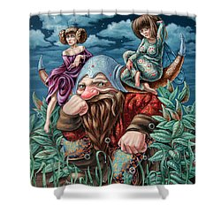 The Great Horns Shower Curtain