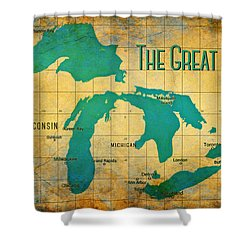 The Great Lakes Shower Curtain